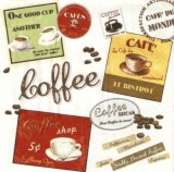 nostalgische Kaffee Etiketten - Vintage Coffee Labels - étiquettes nostalgique de café