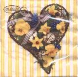 Frühlingsherz  - Spring heart yellow