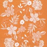 Blüten- und Blättermuster orange