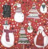 Lustige Schneemänner & Weihnachtsbäume - Funny snowmen