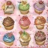 18 kleine Küchlein - Cupcakes - Muffins