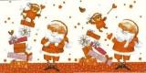 Santa mit Geschenke & Teddy