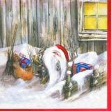 Nisser im Schnee - Weihnachstmann - Santa