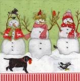 Lustige Schneemänner, Vögel & 1 Hund - Funny snowmen, birds and a dog