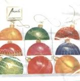 Schachtel mit Weihnachtskugeln - Box with Christmas balls