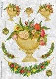 Blumen in Vasen & Früchtegirlanden - Flowers in vases and fruit garlands