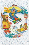 Kinderspaß im Schnee - Children having fun in snow - Les enfants samusent dans la neige