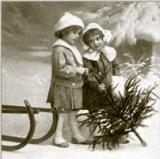 Nostalgische Kinder im Winter - Nostalgic Winter girls