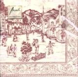 Nostalgischer Dorfplatz - Toile red - Nostalgic Village