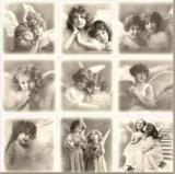 9 nostalgische Engelbilder - 9 nostalgic angel pictures - 9 nostalgiques ange