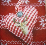 Herz im Landhausstil mit Hirsch - Country style heart with deer