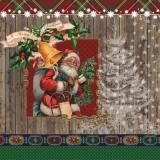Santa, nostalg. Kinder & Hirsch - Santa, nostalg. Children & Stag -Père Noel,  Les enfants & cerf