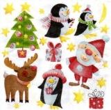 Santa, Pinguine & Rentier Rudy - Santa, reindeer Rudy & penguins - Père Noël, rennes Rudy & pingouins