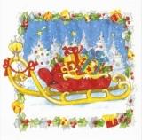 Geschenkeschlitten- Sleigh with presents - Luge avec des cadeaux