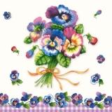 Stiefmütterchenstrauß mit Schleife - Bunch of Pansies - Pansy Bouquet