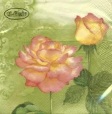 2 Rosenblüten grün - Belles Roses oliv