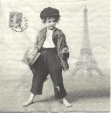 Nostalgischer Zeitungsjunge in Paris - Nostalgic newspaper boy in Paris - Livreur de journaux nostalgique à Paris