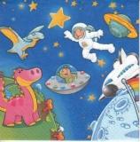 Dinos & Astronaut im Weltall -