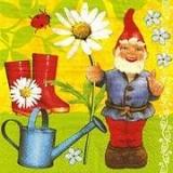 Gartenzwerg, Gießkanne, Maruenkäfer, Gummistiefel -Garden Gnome Watering Can, Ladybug, rubber boots(Wellingtons) - Nain de jardin, arrosoir, coccinelle, des bottes en caoutchouc -