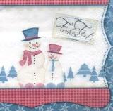 Frohes Fest - Schneemannfreunde - Snowmen friends - Amis bonhommes de neige