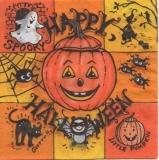 Katze, Fledermaus, Spinnen, Hexe - Happy Halloween - Chat, chauve-souris, araignée, sorcière