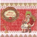 Nostalgisches Mädchen beim Weihnachtsmann - Nostalgic girl and Father Christmas - Filles chez lhomme de Noël