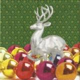 Silberner Hirsch & weihnachtskugeln - Silver Deer & X-mas balls - Argent Stag & babioles de Noël