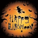 Hexe, Fledermäuse, Eule, Spinne - Happy Halloween - Witch, Spider, Owl, Bats -  Sorcière, araignée, hibou, chauve-souris
