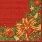 Weihnachtsdeko auf Noten - X-mas decoration on score - Décoration de Noël sur le score