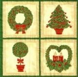 Elegante rot, goldene Weihnachtsbäume & Weihnachtskränze - Elegant red & gold Christmas trees & wreaths - Élégant rouge et or arbres & couronnes de Noël