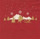 Santa in veschneiter Nacht - Santa in snowy night - Père Noël dans la neige Nuit