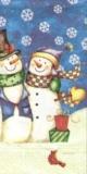 3 Schneemänner, Hund & 1 Vogel - 3 snowmen, dog & 1 bird - 3 bonhommes de neige, chien & 1 oiseau