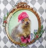 Frau Hase mit Hut & Handtasche - Miss Rabbit with hat & Handbag - Mlle lapin avec chapeau et sac à main