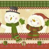 Herr & Frau Schneemann - Mr. & Mrs. Snowman - M. et Mme Snowman
