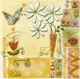 Blumen, Schmetterling, Marienkäfer - Flowers, butterfly, ladybug - Fleurs, papillon, coccinelle