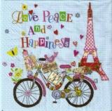 Fahrradtour durch Paris, Eiffelturm - Bike tour of Paris, Eiffel Tower - Tour à vélo de Paris, la Tour Eiffel - Love, Peace & Happiness
