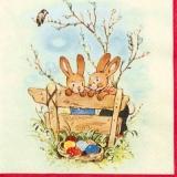 2 Häschen auf Ostereiersuche - 2 Bunnies searching for easter eggs - 2 lapin à la chasse aux oeufs de Pâques