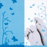 Babyfüße, Junge, Schmetterlinge - Baby feet, boy, butterflies - Pieds de bébé, garçon, papillons