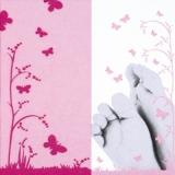 Babyfüße, Mädchen, Schmetterlinge - Baby feet, girl, butterflies - Pieds de bébé, fille, papillons