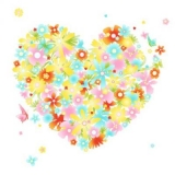 Blüten-Herz & Schmetterlinge - Flower Heart & Butterflies, Flower Love - Coeur de fleur et de papillons
