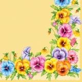 Stiefmütterchenrahmen - Frame of pansies - Cadre de pensée