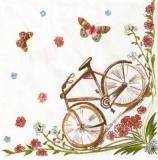 4 nostalgische Fahrräder, Schmetterlinge - 4 nostalgic bicycles, butterflies - 4 vélos nostalgiques, les papillons
