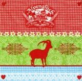 Geißbock & Muster, Alpenglück - Billy Goat & pattern - Chèvre de billy & modèle