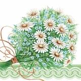 Margeritenstrauß mit Vergißmeinnicht - Daisy bouquet with forget-me-nots - Marguerites bouquet de myosotis