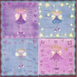 4 Feen / Engel mit Zauberstab - 4 Fairies / Angels with magic wand - 4 Fées / anges avec la baguette magique