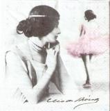 Nostalgische Frau & Ballerina, Ballet & Noten, Cleo de Merode - Nostalgic woman & Ballerina, Ballet & Notes - Femme & ballerine nostalgique, Ballet & notes