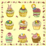 Leckere Cupcakes zu Ostern & Blumen-Rahmen, Hase, Eier, Küken - Delicious cupcakes for Easter & Flower Frame, rabbit, eggs, chicks - Délicieux cupcakes pour Pâques et fleur cadre, lapin, oeufs, poussi