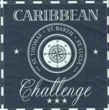 Caribbean Challenge blau, St. Thomas, St. Barth, St. Lucia, Kompass - compass - boussole