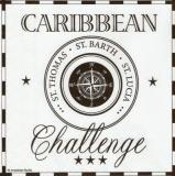 Caribbean Challenge weiß, St. Thomas, St. Barth, St. Lucia, Kompass - compass - boussole