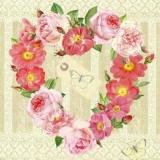 Blütenherz & Schmetterling - Flower heart & butterflies - Coeur de fleur et le papillon